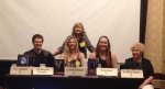 1st panel of the con on Creating Fantasy Worlds with Christopher Paolini, Me, Kathy Napier, Aria Kane and E. Rose Sabin