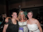 Tera Cuskaden, me, Nikki Duncan. I promise once we get past the Samhain party, there's a lot less of me in these pics!