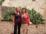 Me and my awesome author Rosemary Clement-Moore at the Alamo