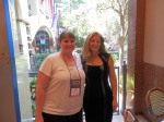 The talented Debra Mullins and me.